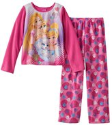 Disney Princess Long Sleeve Fleece Girls Pajama,Kids