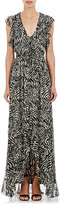 L'Agence WOMEN'S SOPHIE LONG V-NECK FLUTTER DRESS SIZE 4