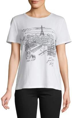 Karl Lagerfeld Paris Graphic Stretch Tee