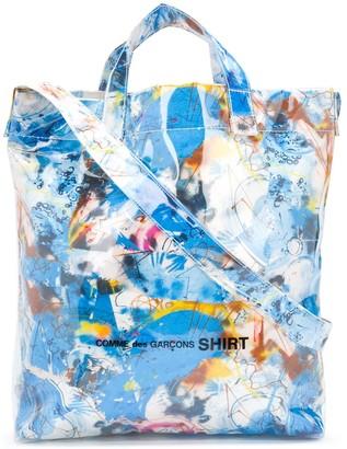 Comme des Garçons Shirt Abstract-Print Tote Bag
