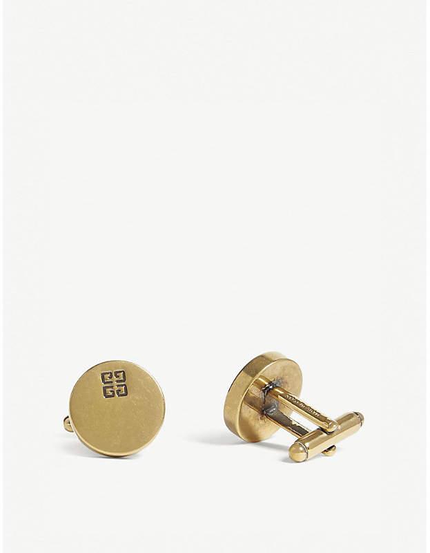Givenchy Logo round cufflinks