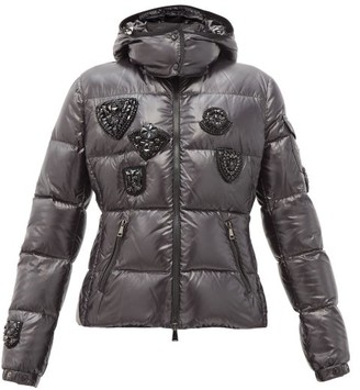 Moncler Ouanne Beaded Quilted Down Jacket - Black