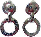 One Kings Lane Vintage YSL Silver Hammered Hoop Earrings
