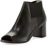 Amalfi by Rangoni Clarissa Leather Stretch Bootie, Black