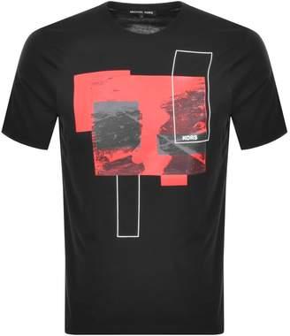 Michael Kors Korshaus Logo T Shirt Black