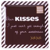 "Hershey's by Fitz and Floyd® Sweet Notes ""Dear KISSES"" Square Dish in Chocolate"