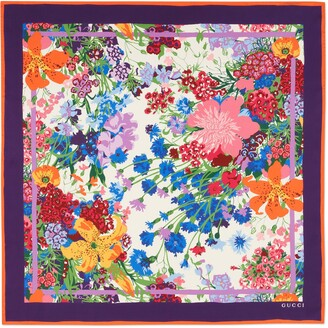 Gucci Ken Scott print silk scarf