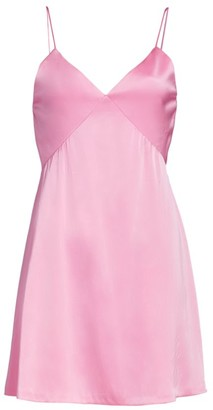 Alice + Olivia Melinda Seamed Mini Slip Dress