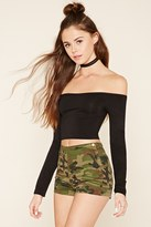 Forever 21 FOREVER 21+ High-Rise Camo Shorts