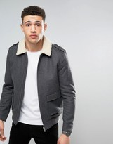Tokyo Laundry 50% Wool Melton Fleece Collar Bomber