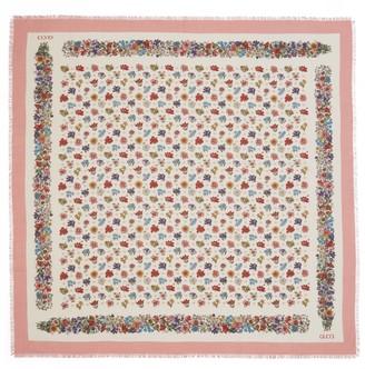 Gucci Floral motif wool shawl