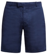 Frescobol Carioca Tailored Linen And Cotton-blend Shorts