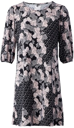 M&Co Izabel paisley print shift dress
