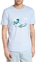 Altru Men's Wavy Hokusai Graphic T-Shirt