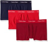 Calvin Klein Men's 3-Pack Cotton Stretch Low Rise Trunk, Black, X-Large
