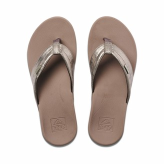 Reef Women's Sandals Ortho-Spring   Arch Support Flip Flops for Women   Pewter   Size 5