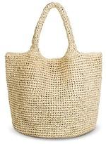 Target Brand Women's Metallic Straw Tote Handbag Beige - Target