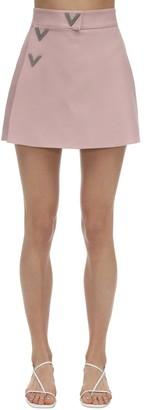 Valentino Embellished Crepe Couture Skort