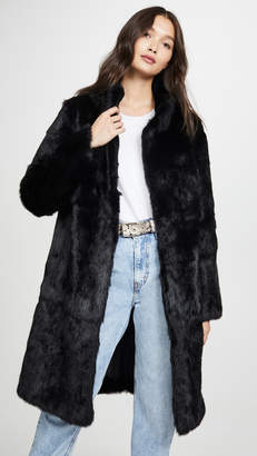 Adrienne Landau Rabbit Coat