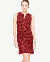 Ann Taylor Fringe Tweed Shift Dress