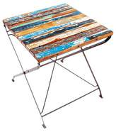 Eco Chic Ecochic Lifestyles Teak for Two Folding Solid Wood Bistro Table EcoChic Lifestyles