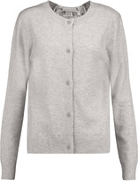 Clu Lace-paneled wool and cashmere-blend cardigan