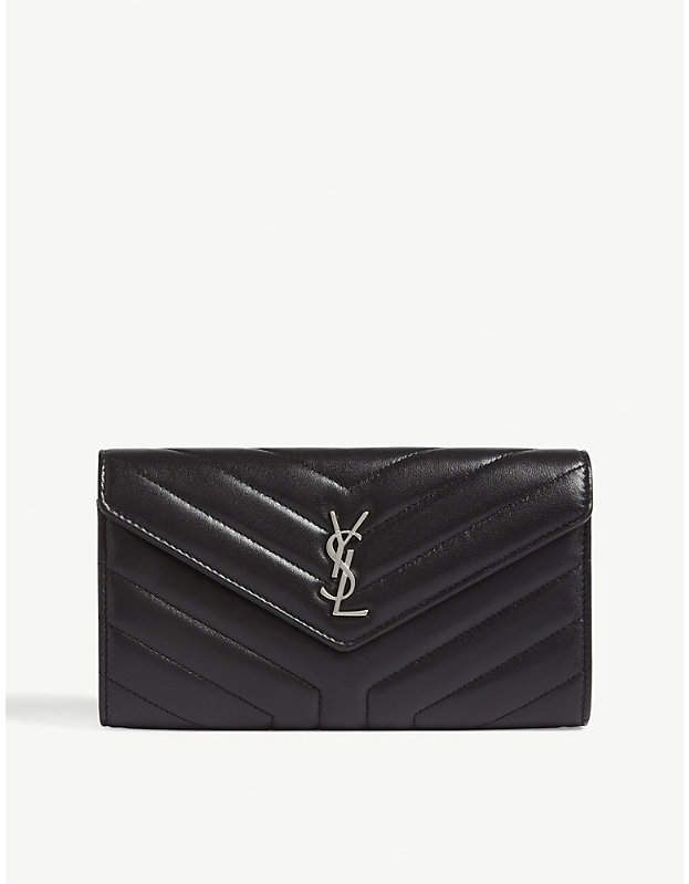 Saint Laurent LouLou large quilted leather wallet