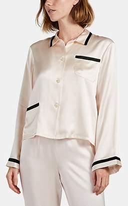 Morgan Lane Women's Ruthie Silk Pajama Top - Cream