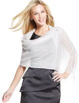 Style&Co. Style & Co Woven Metallic Crochet Wrap