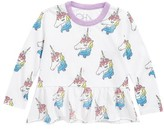 Chaser Toddler Girl's Unicorns Graphic Tee