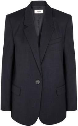 Etoile Isabel Marant Verix Navy Checked Blazer