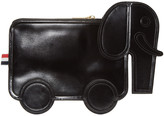 Thom Browne Black Leather Elephant Pouch