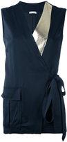 Each X Other metallic lapel sleeveless top - women - Acetate/Viscose - XS