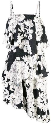 Josie Natori short ruffle dress