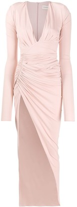 Alexandre Vauthier Long Ruched Dress