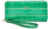 GUESS Cate Crocodile-Embossed Zip-Around