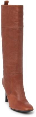 Tod's Tall Leather Block Heel Boot