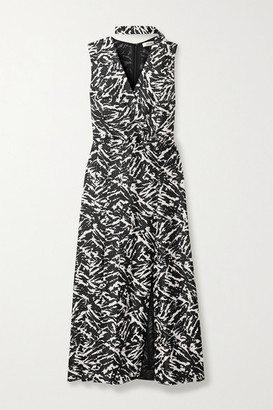 Jason Wu Zebra-print Silk-twill Midi Dress - Zebra print