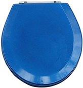 Trimmer Premium Metallic Blue Wood Toilet Wood Seat.