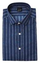 Bagutta Men's Blue Cotton Shirt.