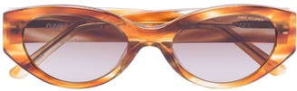 DMY BY DMY Quin Havana oval sunglasses