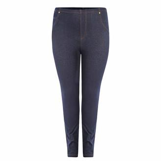 Generation Gap Generation-Gap Womens Plus Size High Waisted Denim Look Stretchy Skinny Jeggings Leggings Trouser (Navy 3XL/4XL)