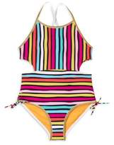 Limited Too Toddler Girl Retro Striped One-Piece Swimsuit
