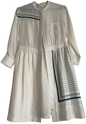 Band Of Outsiders White Silk Dress for Women