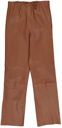 By Malene Birger Brown Leather Trousers