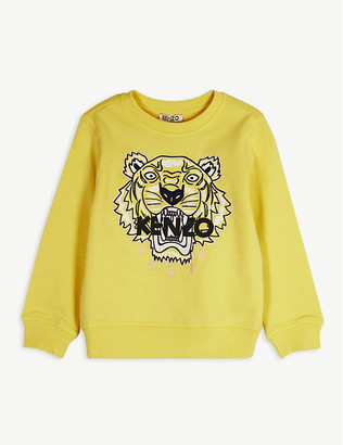 Kenzo Tiger logo-print cotton sweatshirt 4-14 years