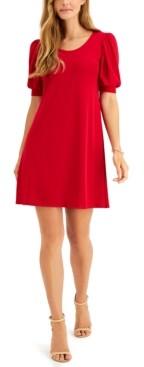 MSK Petite Puff-Sleeve Sheath Dress