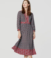 LOFT Tall Autumn Bloom Midi Dress