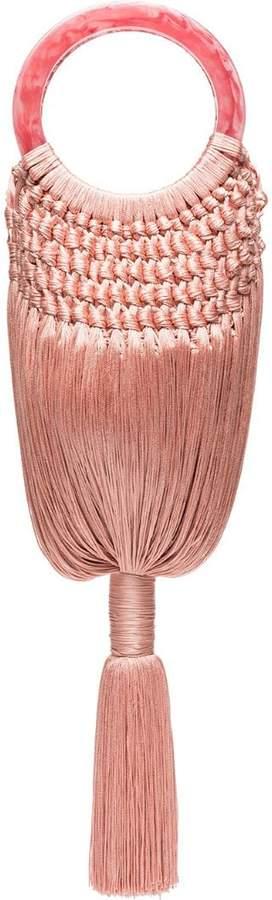 Cult Gaia Pink angelou tasselled bag