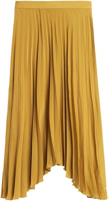 Banana Republic Petite Pleated High-Low Skirt